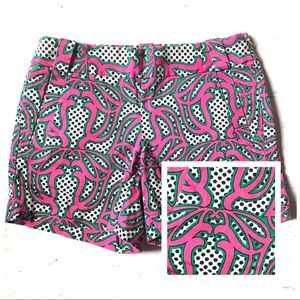 J. Crew City Fit Pattern Stretch Shorts